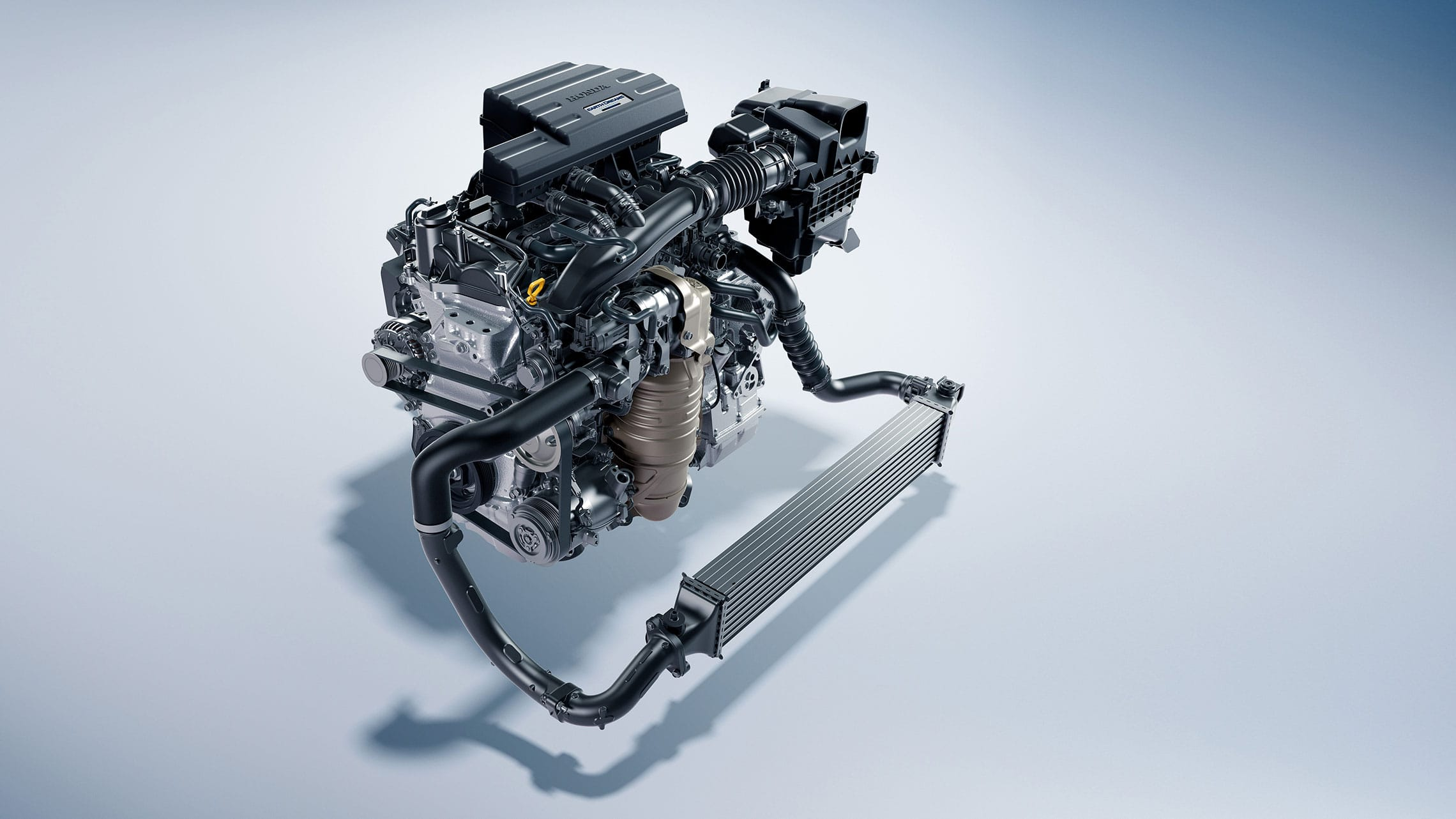 1.5-liter turbocharged engine detail in the 2021 Honda CR-V.